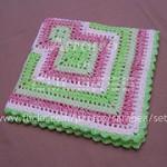 Manta de cuadrados y zig-zags