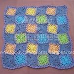 Manta de rombos y cuadrados