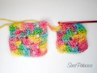 Crochet continuo: Método 2 para Granny squares